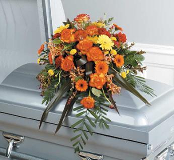 A Wonderful Life Casket Spray