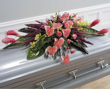 Tropical Peace Casket Spray