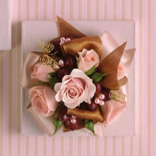 Pink & Brown Corsage