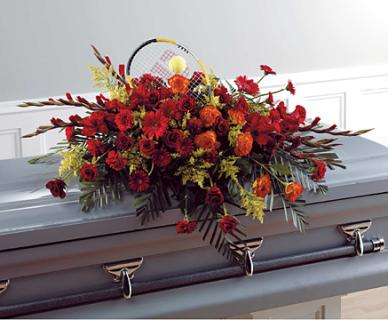 Warm Remembrance Casket Spray
